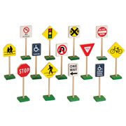 "Miniature Traffic Signs (13 pcs.) (7""H)"