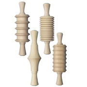 Wooden Clay Rolling Pins - 4 Pcs Assortment