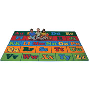 Offset Seating Literacy Rug