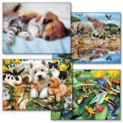300 Piece Puzzle Set of 4 Jigsaw Puzzles