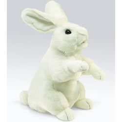 Standing White Rabbit Hand Puppet by Folkmanis
