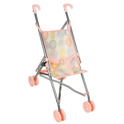 Pink Umbrella Doll Stroller