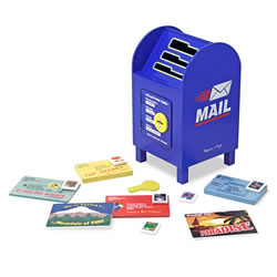Wooden Stamp & Sort Mailbox