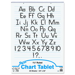 "Pacon Chart Tablet, 1 1/2"" Ruled, 24x32"