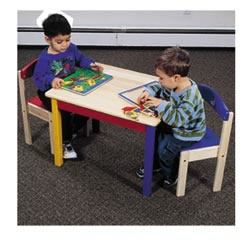 Primary Color Table and Chair Set