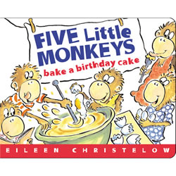 Five Little Monkeys Bake A Cake (Board Book)