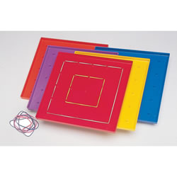 Plastic Geoboards (Set of 10)