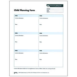 Child Planning Forms For Infants Toddlers & Twos