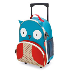 Zoo Kids Rolling Luggage - Owl