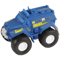Matchbox Rev Rigs Blue Police Truck