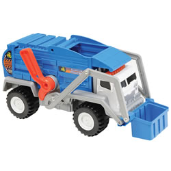 Matchbox Mega Power Shift  Garbage Truck - Blue