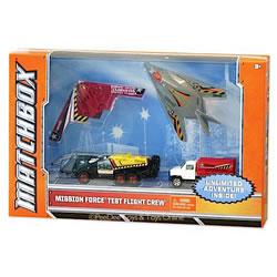 Matchbox Mission Force Test Flight Crew