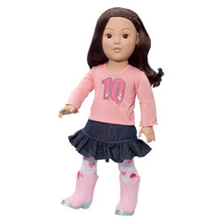"Favorite Friends Urban Cowgirl 18"" Doll"