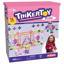 Tinkertoy Building Set Pink