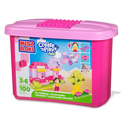 Mega Bloks Create 'n Play Junior - Pink