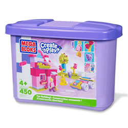 Mega Bloks Create 'n Play Micro Blocks Fun Building Set - Purple