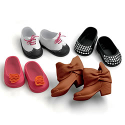 "Favorite Friends Pretty Feet Shoe Pack for 18"" Play Doll"