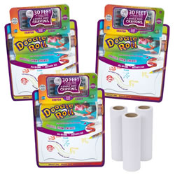 Doodle Roll® with Writing Board & Replacement Rolls Set