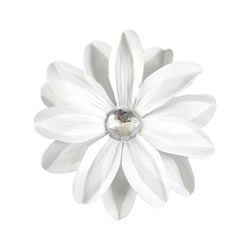 Fobbz Bling Flower - White