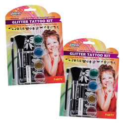 Party Glitter Tattoo Set