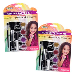 The Princess Glitter Tattoo Set