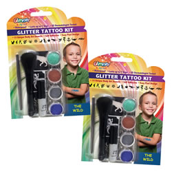 The Wild Glitter Tattoo Set