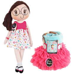 My Friend Huggles™ Doll, Blanket, & Tutu Set - Rubi