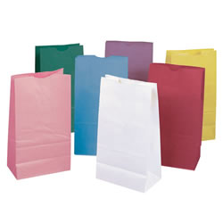 Rainbow Kraft Bags Pastel Colors (28 Bags)