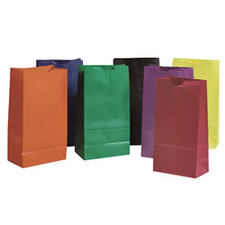 Rainbow Kraft Bags Bright Colors (28 Bags)