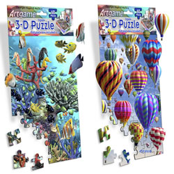 Balloons & Waterworld Mini 3-D Jigsaw Puzzle Set