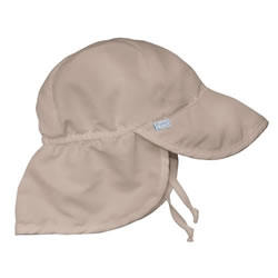 Solid Flap Sun Protection Hat - Khaki