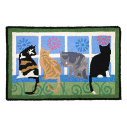 Jellybean Rug - Kitties in the Window - Washable