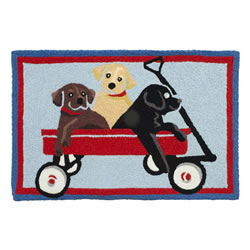 Jellybean Rug - Puppy Wagon - Washable