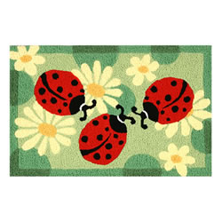 Jellybean Rug - Ladybugs (C) - Washable