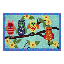 Jellybean Rug - Hoot Owls (C) - Washable
