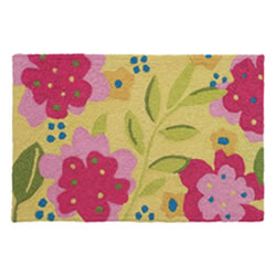 Jellybean Rug - Flowers on Canary Yellow ©