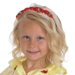 Red Rose Headband Dress-Up Accessory