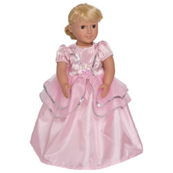 Royal Pink Princess Doll Costume