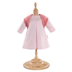 "Pink Dress & Woolen Vest for 12"" Baby Doll"