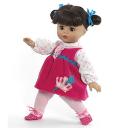 "My Little Girl Polkadot Princess 14"" Baby Doll"