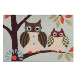 Jellybean Rug - Patchwork Owl © - Washable