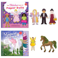 Klutz® Paper Dolls & Magical Horses Set