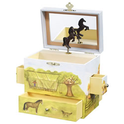 Enchantmints Horse Ranch Musical Jewelry Box