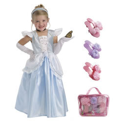 Cinderella Dress Size Medium (3-5 years) with Bonus Dress-up Shoes