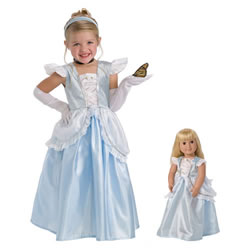 Cinderella Dress & Accessories with Matching Doll Dress