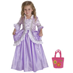 Royal Rapunzel Dress Size Large (5-7 years) with Bonus Pink Purse