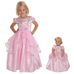 Royal Pink Dress & Doll Dress