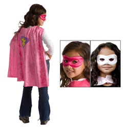Girl Hero Cape & Mask