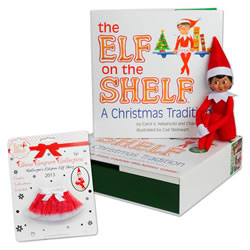 Elf on the Shelf® (Girl - Dark) & 2013 Skirt