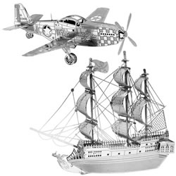 Metal Works 3-D Laser Cut Models - Black Pearl & P-51 Mustang